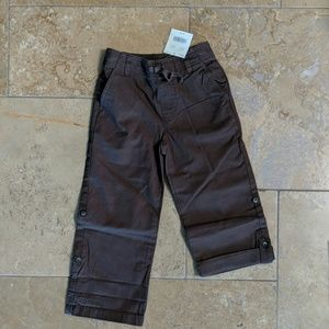 Janie and Jack boy's pants. Brown. Size 4.